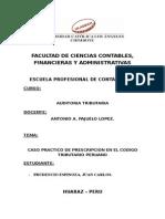 Tarea Sobre Prescripcion en El Codigo Tributario..j.c.