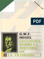 72490632 Hegel «Lecciones Sobre La Historia de La Filosofia I» OCR