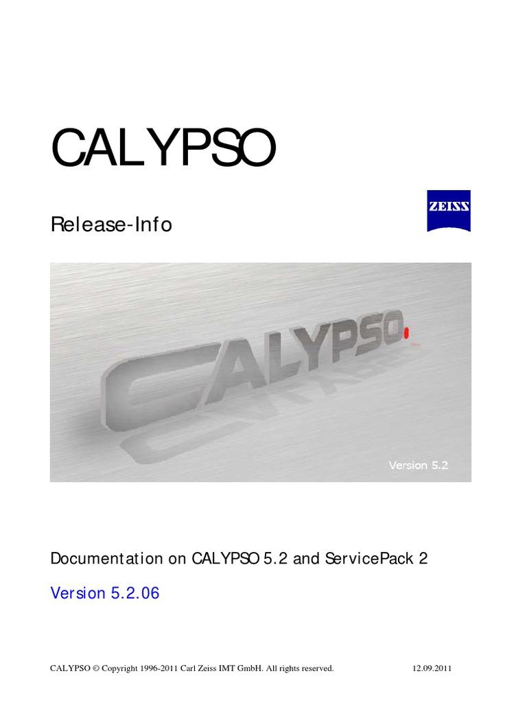 Calypso 5 2 Releaseinfo En | Windows 7 | Microsoft Windows
