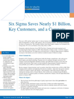 Six Sigma Saves Nearly 1 Billion Key Customers a Company 1233527779769686 2