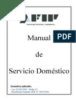 Manual de Servicio Domestico - AFIP