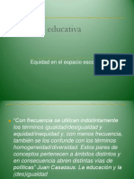 Equidad Educativa