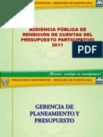 Rendicion de Cuentas Pp 2011 Gpp