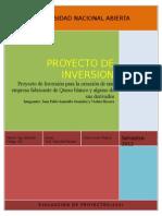 Inversion y Creacion de Una Microempresa de Quesos