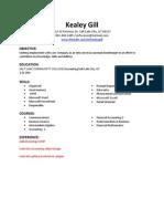 kealey gill-resume 2014