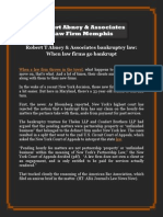 Robert T Abney & Associates bankruptcy law