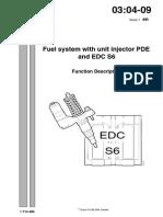 Sistema de Combustible Con Inyector Bomba PDE y EDC S6. Descripción de Funcionamiento