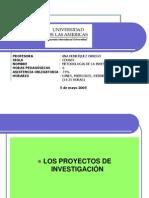 Los Proyectos de Investigacion 14 Mayo