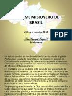 Informe Misionero Brasil 2013