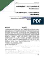 Balasch Investigacion Critica Desafios y Posibilidades