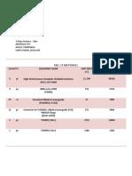 Bill of Materials (1)