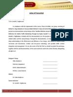Letter of Transmittal Ver 1.1