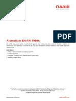 Aluminium en AW 1050A