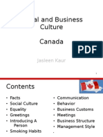 Social and Business Culture in Canada