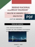TRABAJO N°2 DE MODELACION- TIPO DE PUENTES
