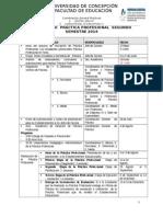 CALENDARIO Practica Profesional II Semestre 2014