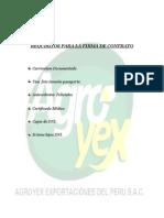 Requisitos Para La Firma de Contrato