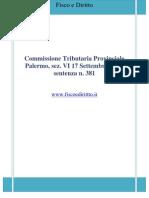 Fisco e Diritto - CTP Palermo Sez VI n 381_2009