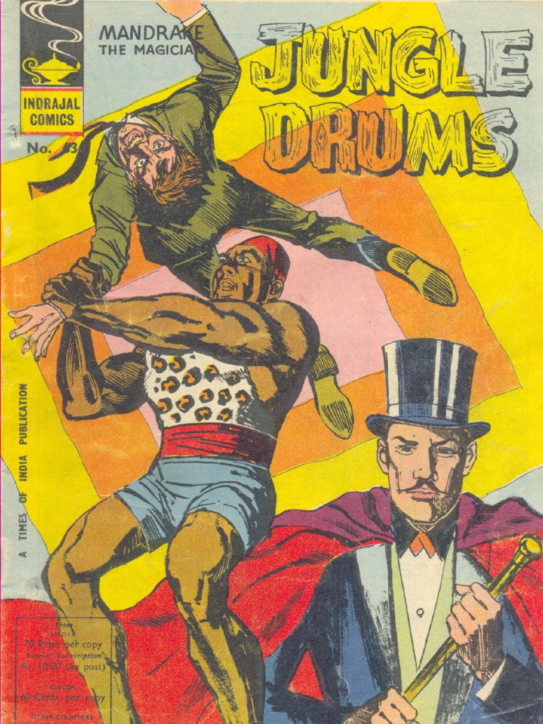 indrajal comics 063 - mandrake - jungle drums