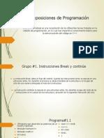 Exposiciones de Programación Version 2003