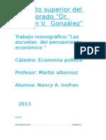 Monografia Escuelas Del Pensamiento Economico (1)