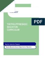 The Philippine Basic Education Curriculum