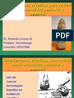 Intervenciones efectivas para reducir Morbi-mortalidad Perinatal y Neonatal