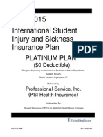 Brochure of PSI Platinum plan approved by WSU
