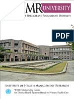 IIHMR UNIVERSITY  AN EXCLUSIVE HEALTH RESEARCH AND POST GRADUATE UNIVERSITY-Flyer