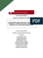 LEDESMA NARVAEZ, Marianella - La Declaracion Judicial Previa de La Prescripcion Adquisitiva y Su Implicancia Para Al Defensa Del Demandao en La Pretensionreindicatoria