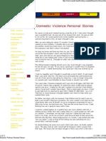 domestic violence personal
