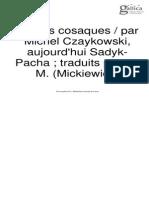Contes Cossacque Par Michel Czaykowski