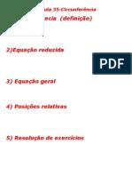 Matemática - Aula 35 - Circunferência