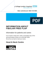 Information About Fibular Free Flap (Patient Information)