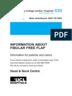 Information About Fibular Free Flap (Patient Information)