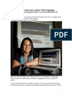 Judy Iseke Researchs Michif Language