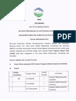 Dokumen Pengumuman Seleksi Penerimaan Calon Pegawai Negeri Sipil Bmkg Tahun Anggaran 2013