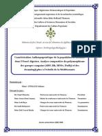 Caractérisation Anthropogénétique de La Population de Honaïne Dans l'Ouest Algérien. Analyse Comparative Du Polymorphisme
