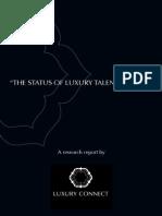 Status of Luxury Talent in India.