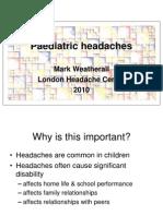 LHC Paediatric Headaches