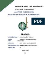 TRABAJO N° 01 - PROYECTOS DE REPARACION