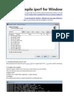 Iperf for Windows Using Cygwin