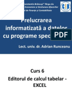 Prelucrarea informatizată a datelor cu programe specializate