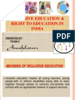 Inclusive Education &Right to Education