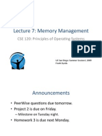 memory management lecture 7