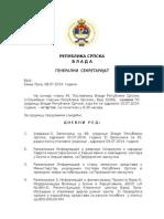 Najava - Dnevni Red Za 70. Sjednicu Vlade