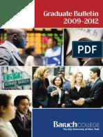 Graduate Bulletin 2009 2012