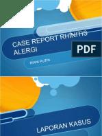 Laporan Kasus Rhinitis Alergi