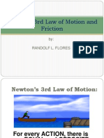 Newton's 3rd Law of Motion and Friction