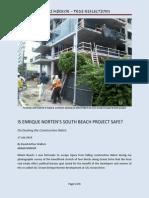 Enrique Norten South Beach Safety Questioned